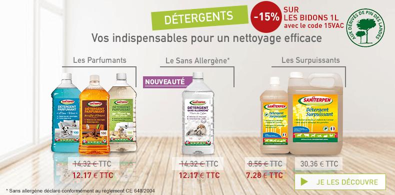 [PART] Détergents -15% 15VAC